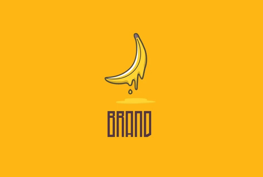 Melting Banana Identity Design