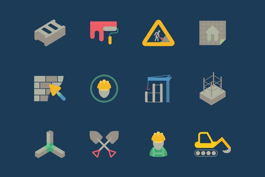 Minimal Construction Icon Set