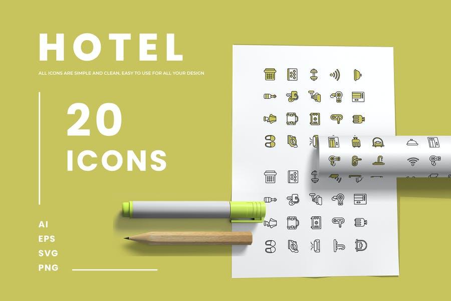 Minimal Hotel Icons Set