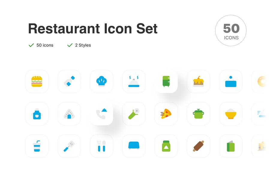Minimal Style Restaurant Objects