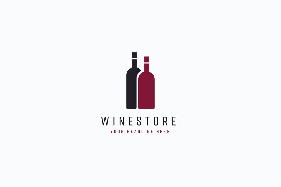 Minimal Wine Store Identity Designs