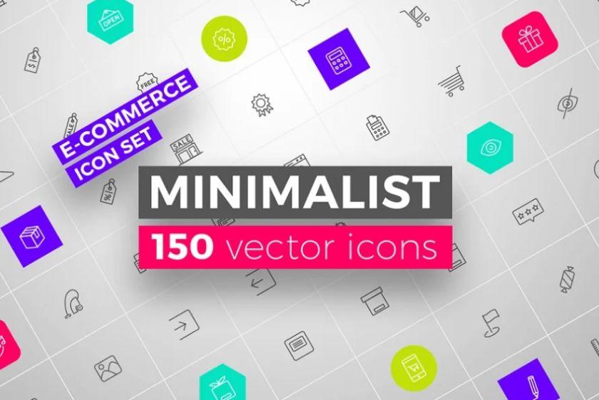 Minimalist E Commerce Icon Set