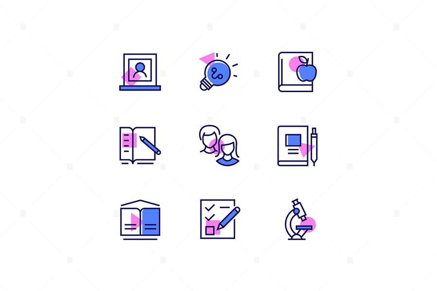 Modern Educational Line Icons