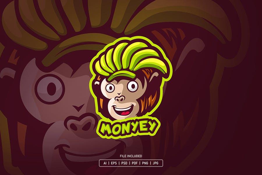 Monkey Mascot Identity Design