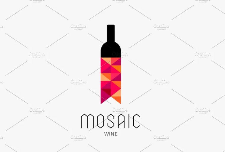 Mosaic Style Wine Identity Design