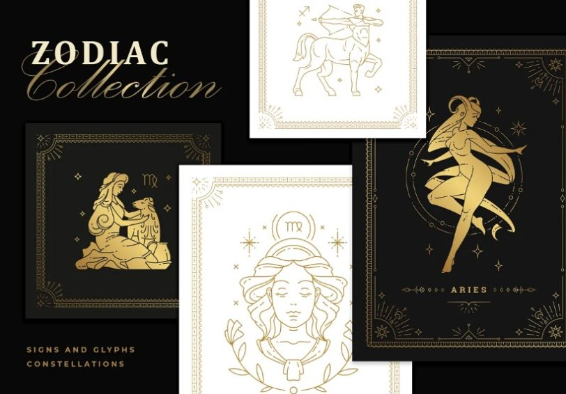 Mystical Style Astrology Icons