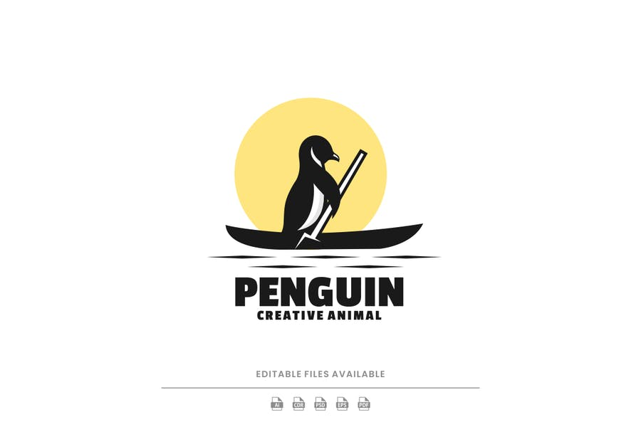 Penguin Silhoutte Identity Design