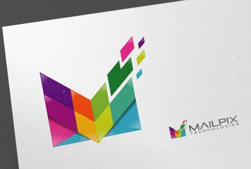 Pixel Style Mail Logo
