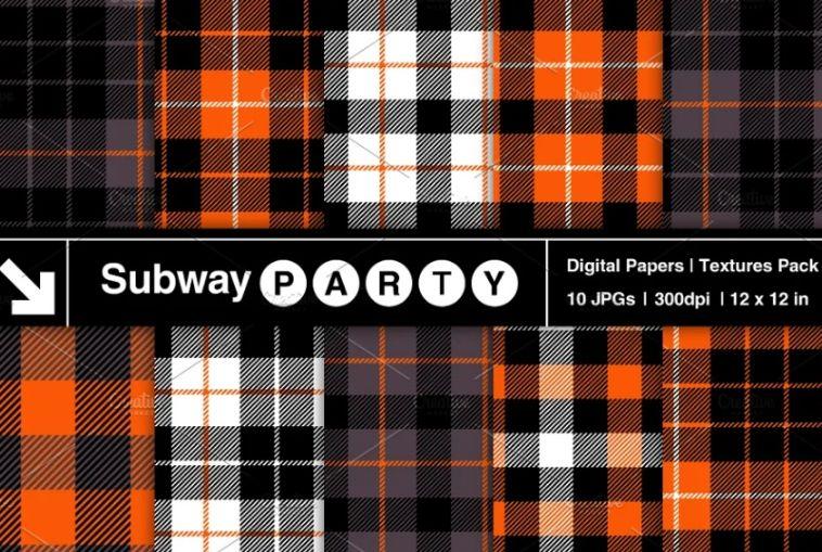Plaid Digital Paper Designs
