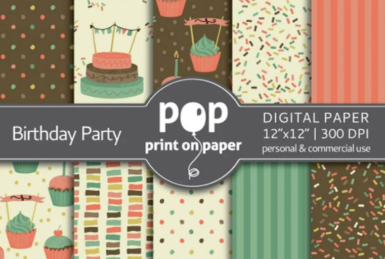 Printable Birthday Party Backgrounds
