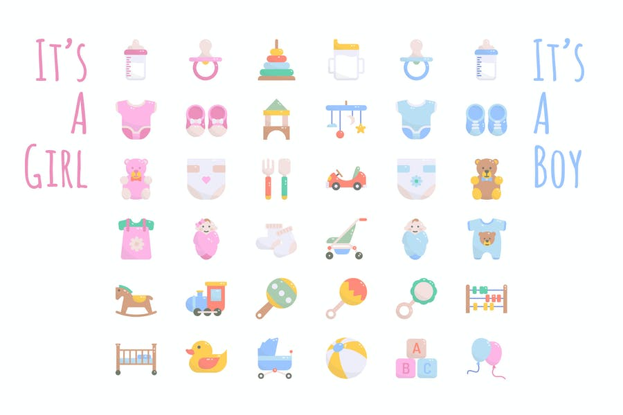 Professional Baby Shower Icons
