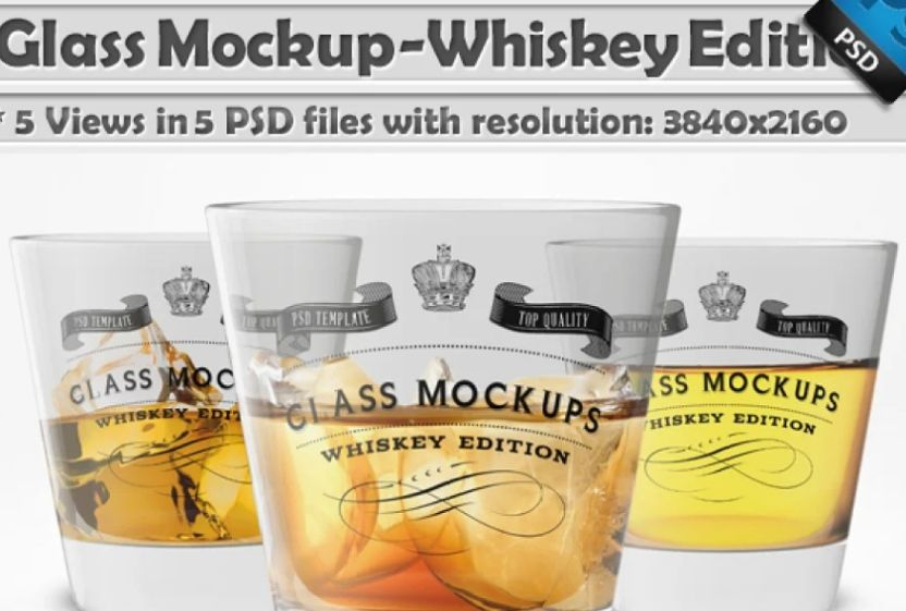 Professional Drinking Glass Mockups