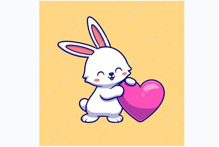 Rabbit with Heart Logo Design