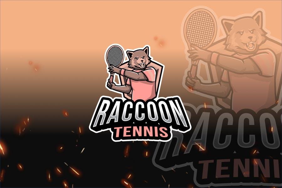 Raccoon E Sports Logo Design