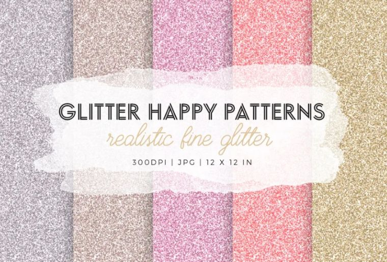Realistic Happy Glitter Wallpapers