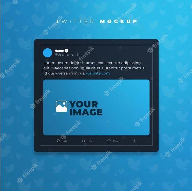 Realistic-tweet-mockup-Premium-Psd