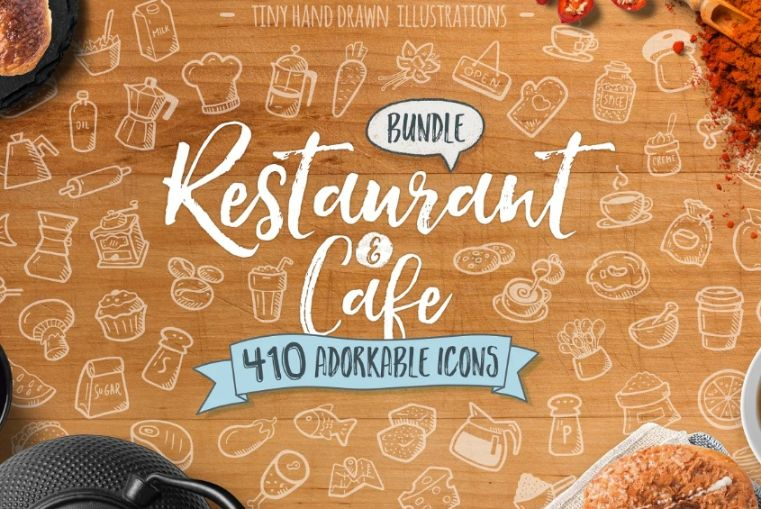 Restaurant and Cafe Illustrations
