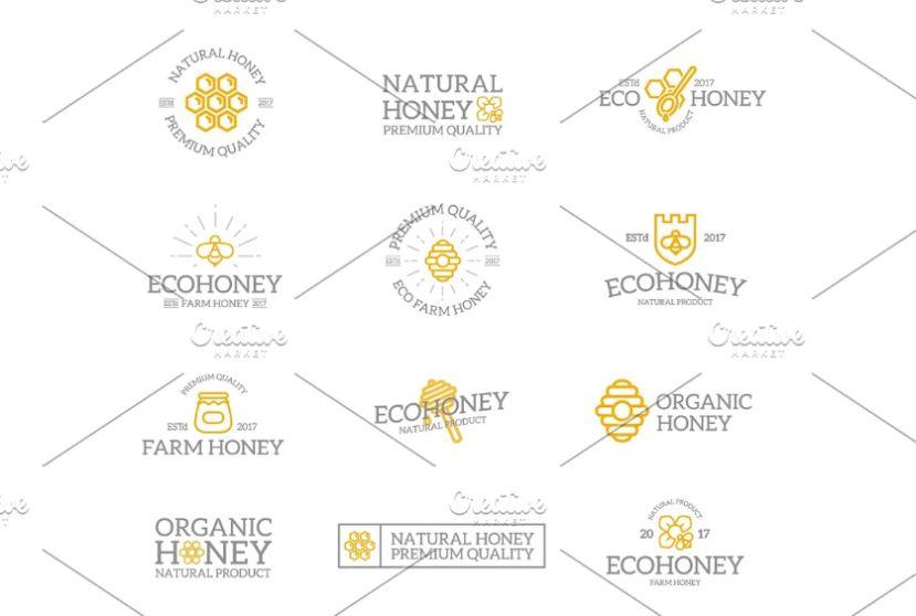Retro Honey Logo Designs