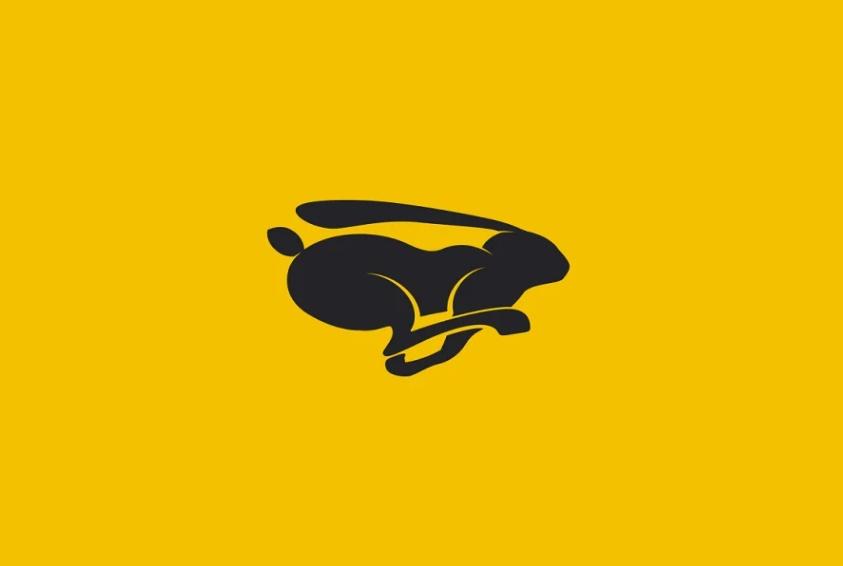 Running Rabbit Logo Design