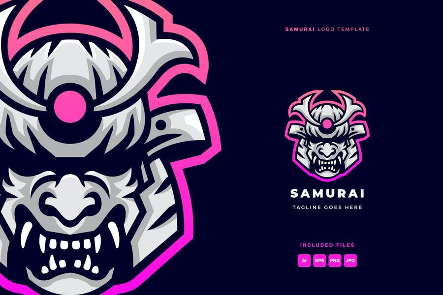 Samurai Mask Logo Design