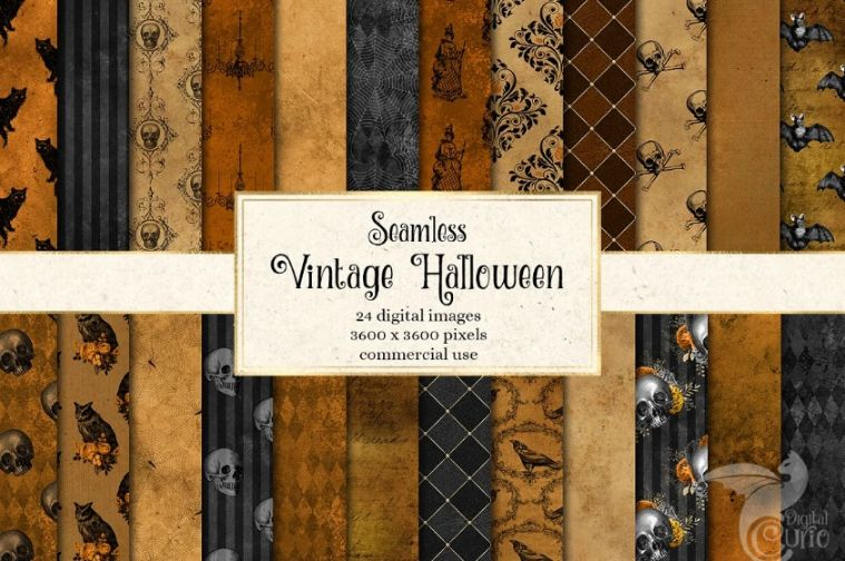 Seaamless Halloween Background Design
