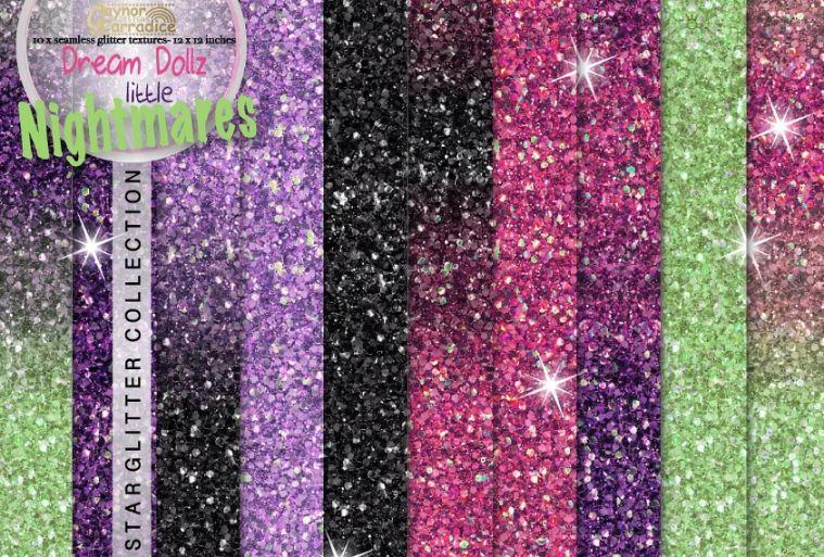Seamless Halloween Glitter Backgrounds