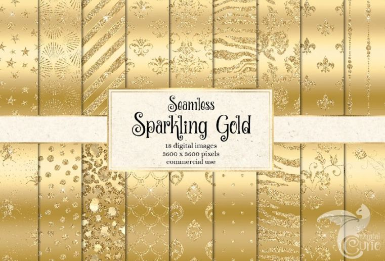 Seamless Sparkling Gold Backgrounds
