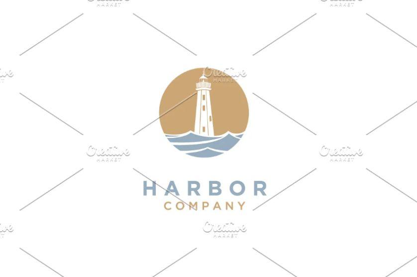 Search Light Logo Template