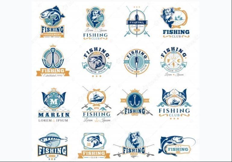 Set of Fishing Vector Badges