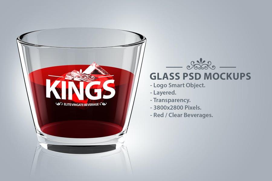 Simple Glass Mockup PSD