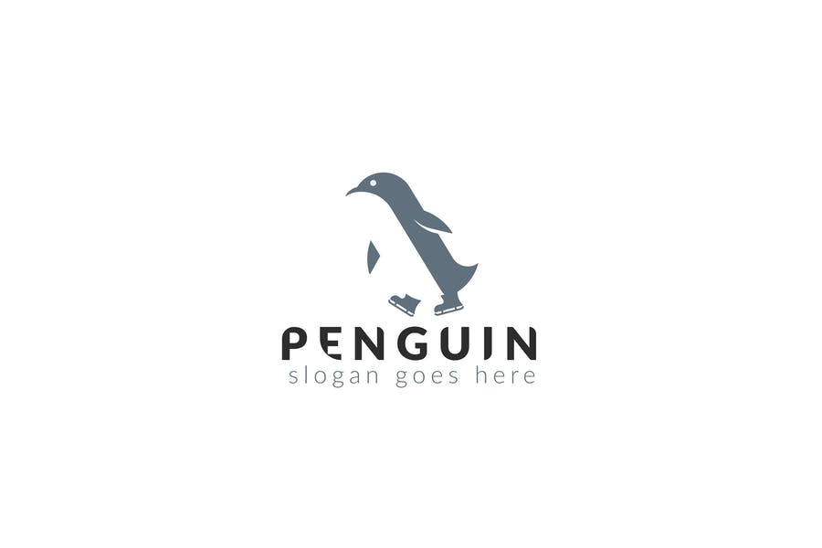 Simple Penguin Logo Design