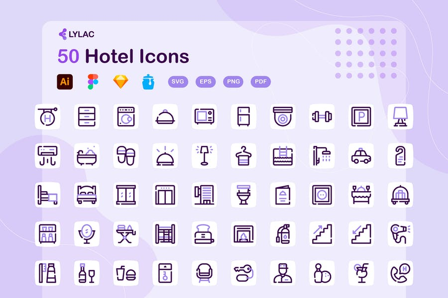 Sketch Style Vector Icons