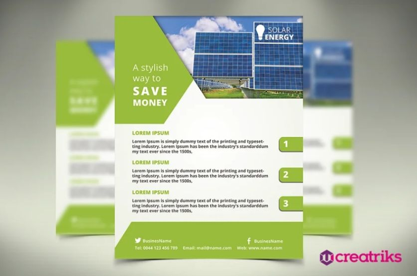 Solar Business Ad Leaflet
