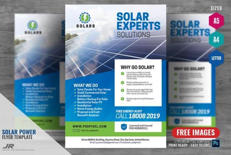 Solar Panel Installation Flyer