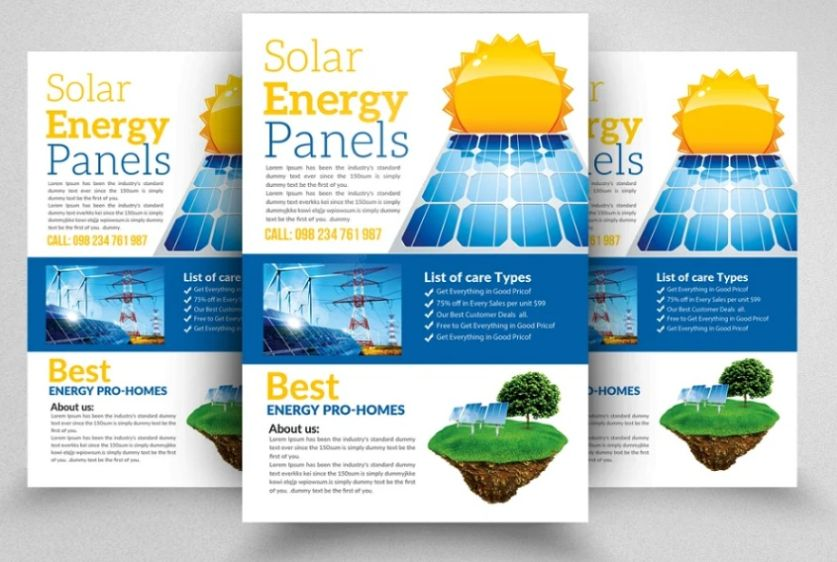 Solar Panels Ad Flyer