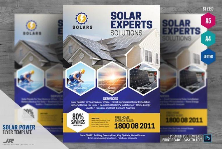Solar energy Solutions flyers