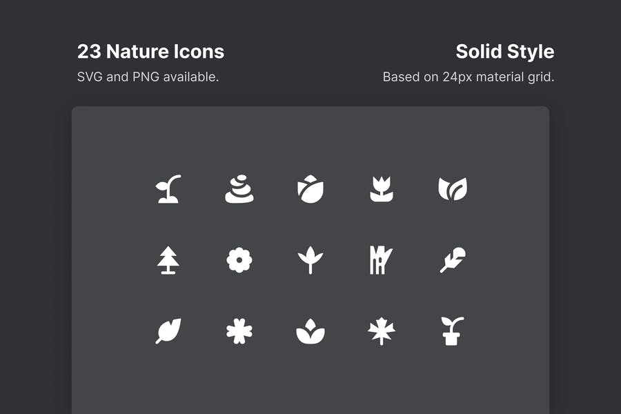 Solid Style Natural Icons