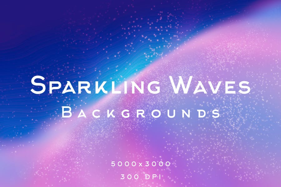 Sparkling Waves Background