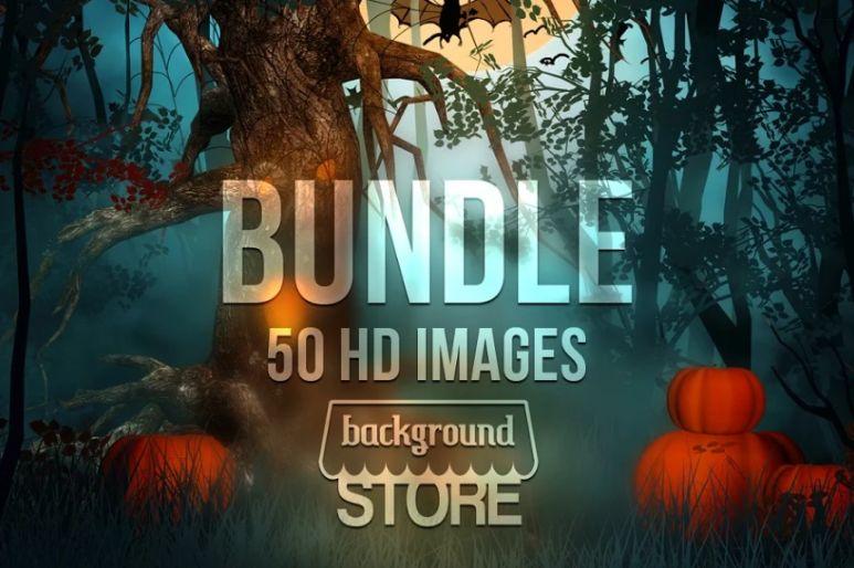 Spooky Halloween Backgrounds Bundle