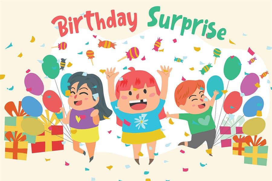 Suprise Birthday Party Background