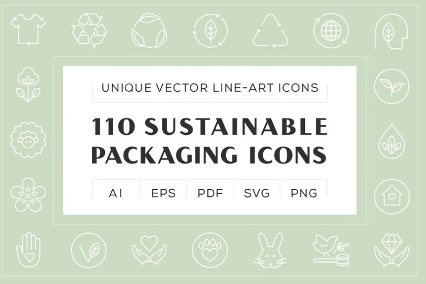 Sustainable Vector Line Icons