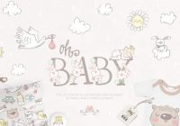 Baby Shower Vector Illustrations