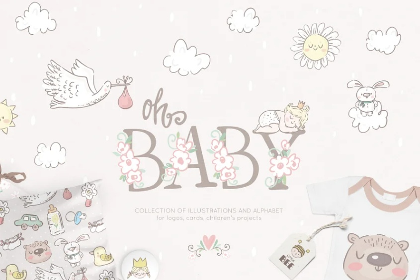 18+ Creative Baby Shower Icons Vector Download