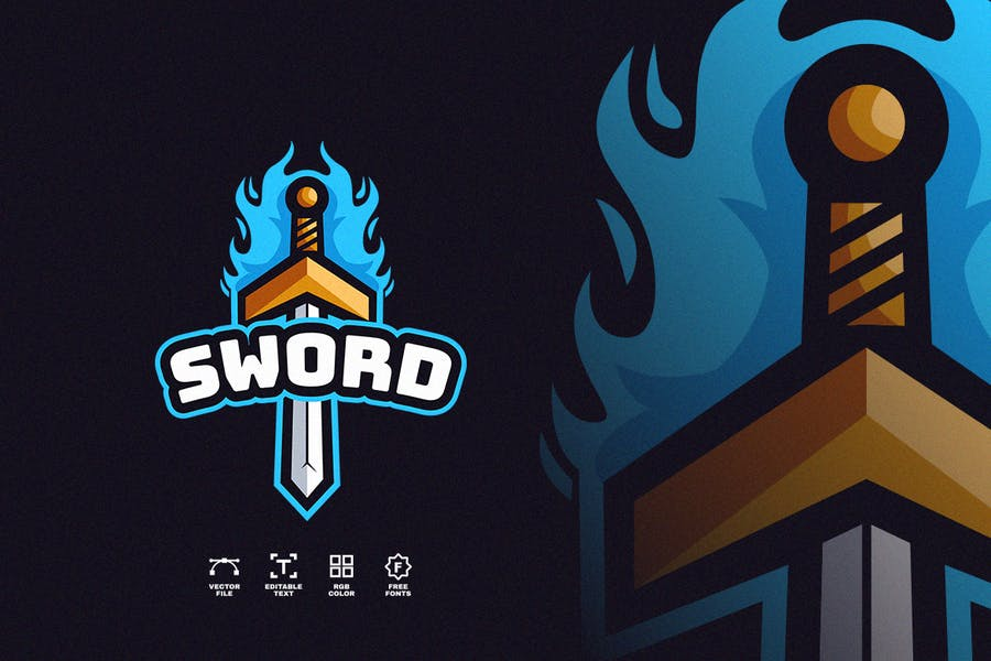 Sword with Fire Identity Design