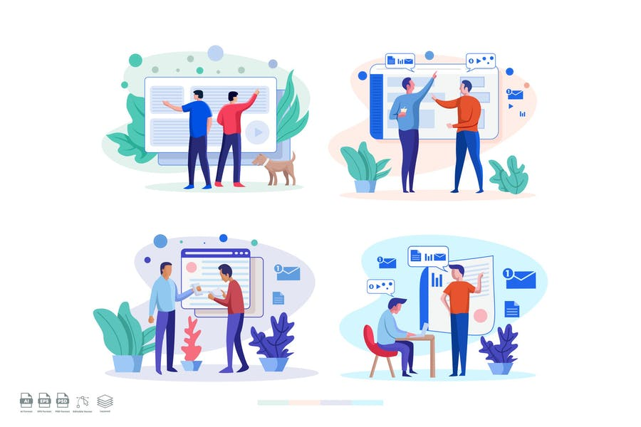 Teamwork Illustration Set