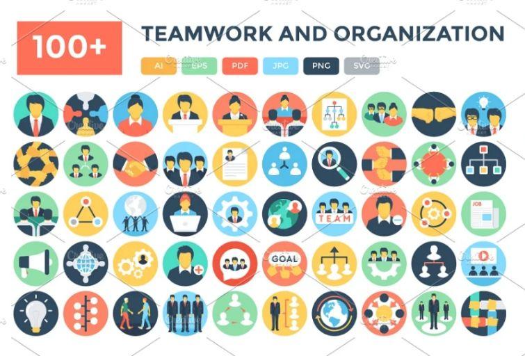 Teamwork and Organization Icons