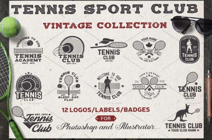 Tennis Club Branding Templates