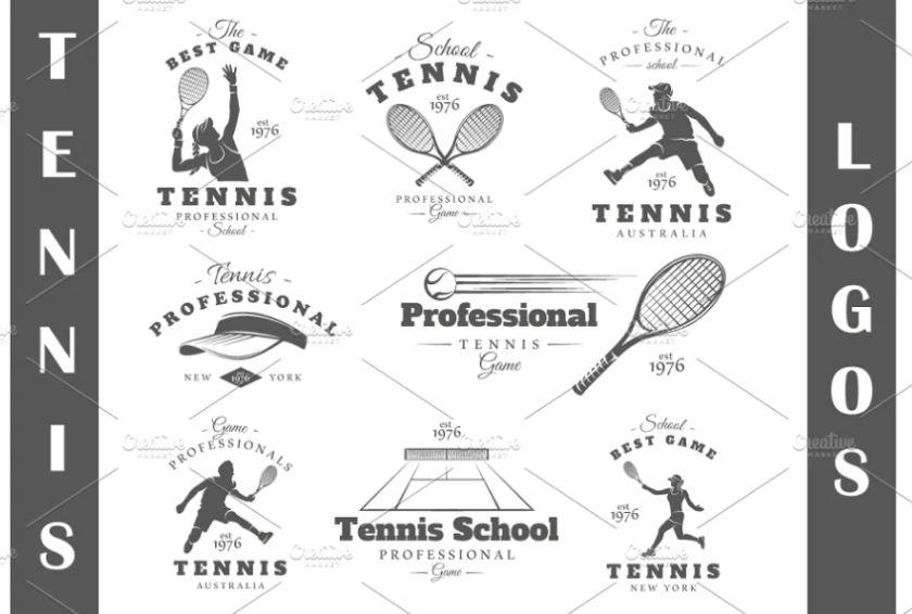 Tennis School Logo Templates