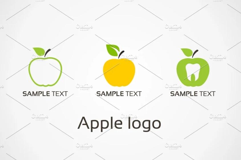 Unique Apple Style Logos