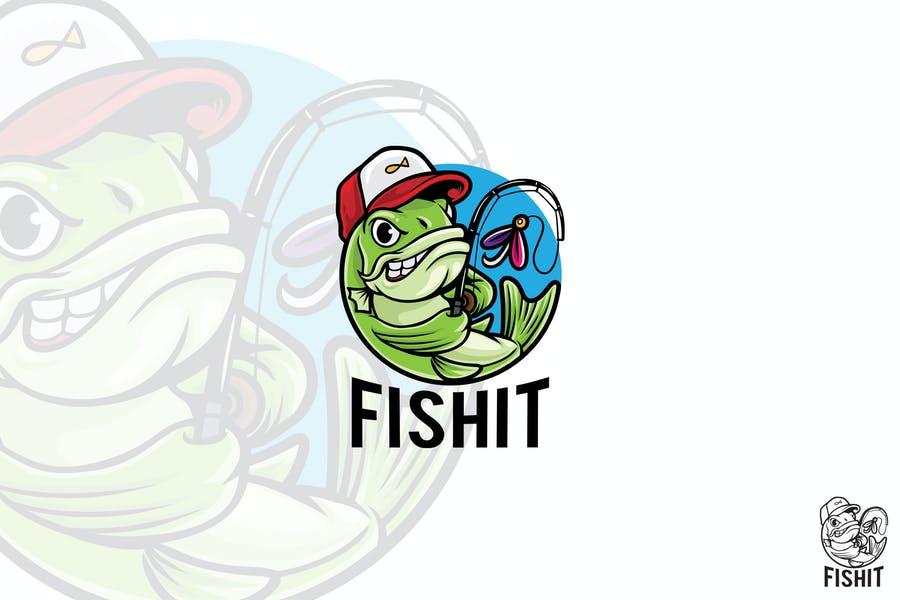 Unique Fishing Mascot Identity Design